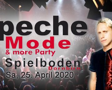37. Depeche Mode & more Party am 25.04.2020 im Spielboden Dornbirn!