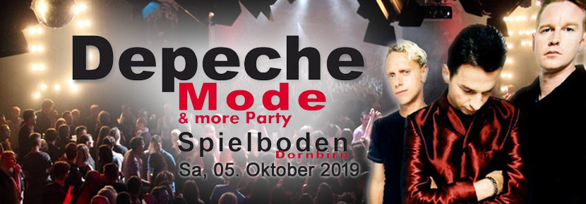 Depeche Mode & more Party am 05.10.2019 im Spielboden Dornbirn!