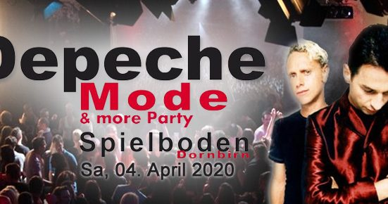 Depeche Mode & more Party am 04.04.2020 im Spielboden Dornbirn!