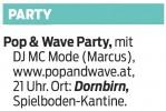 Pop & Wave Party 26.04.2014
