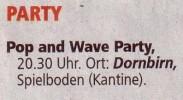 Pop & Wave Party 16.05.2009